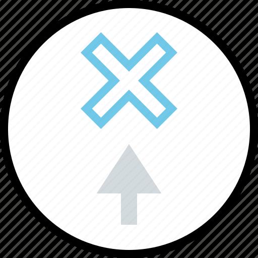 arrow, creative, up icon