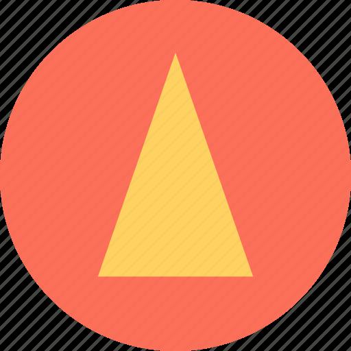 cone, design, up, upload icon