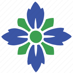 abstract, bloom, floral, flower, nature, pattern, shape icon