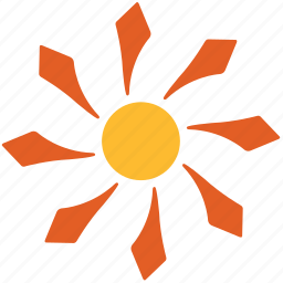 abstract, floral, flower, nature, pattern, shape, sun icon