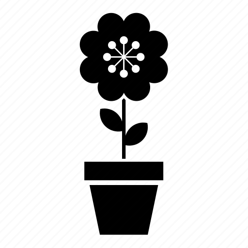 abstract, flower, flowerpot, garden, nature, pot, shape icon