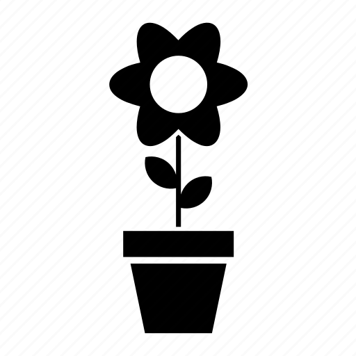 abstract, flower, flowerpot, garden, nature, pot, shape icon