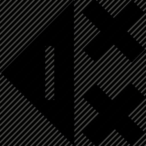back, cross, left, x icon