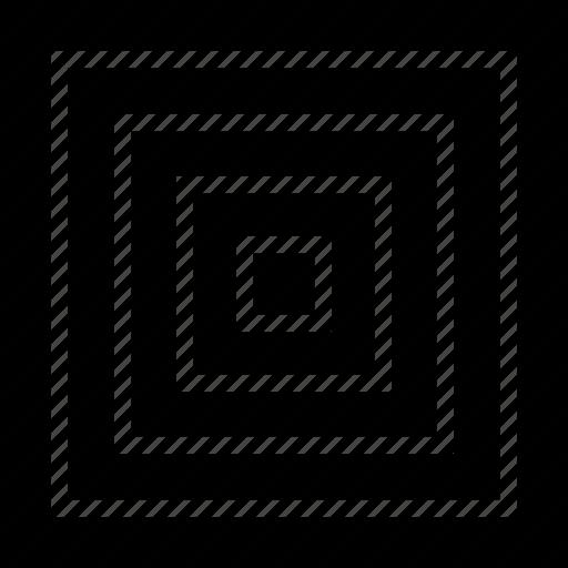 center, eye, maze icon