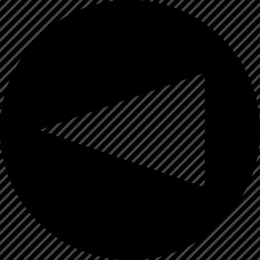 cone, left, point icon