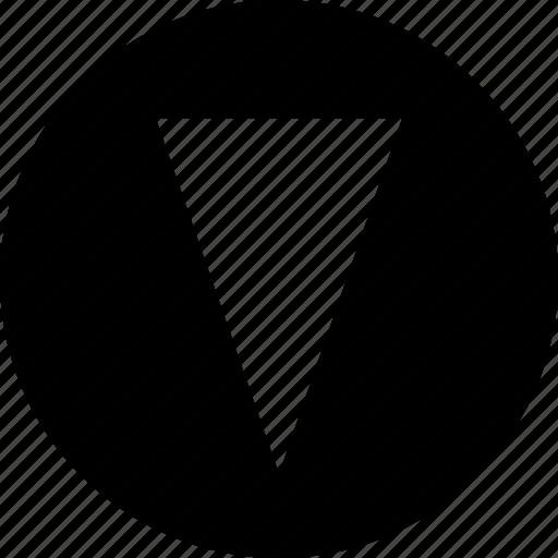 cone, down, pointer icon