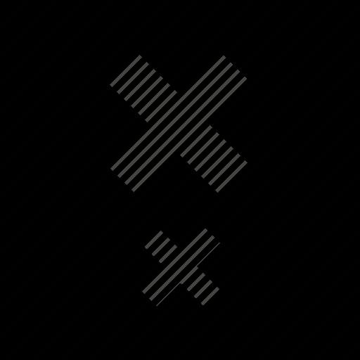 boxed, creative, delete, x icon