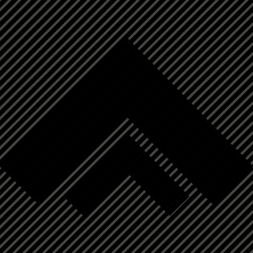 arrow, double, up, upload icon
