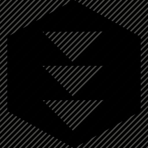 creative, down, download icon