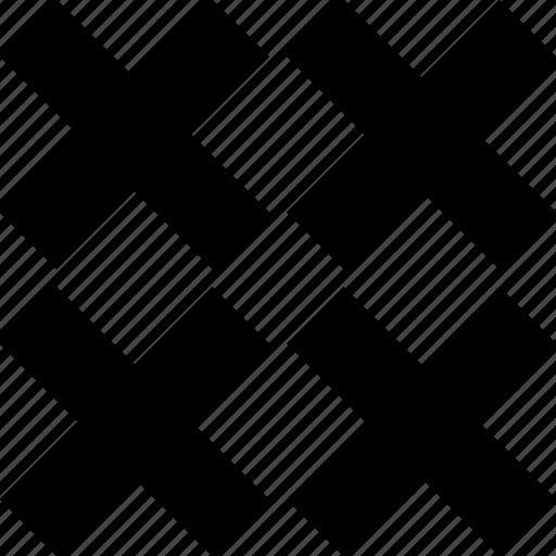crosses, four, menu icon