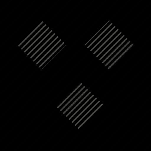 cubes, shape, three icon