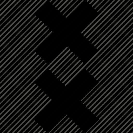 cross, delete, two, x icon