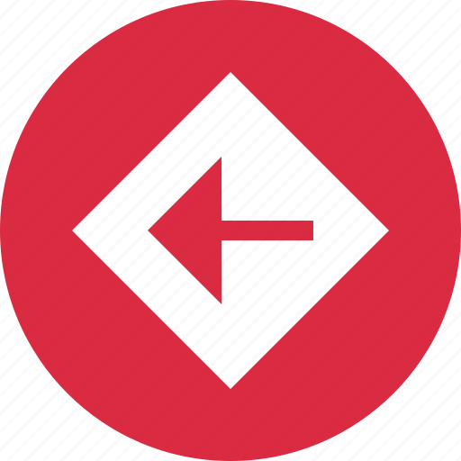 abstract, arrow, creative, design, left, point icon