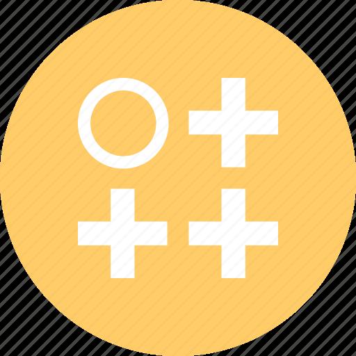 abstract, creative, crosses, design, three icon