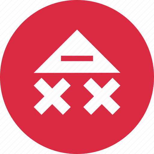 abstract, creative, design, point, triangle, up icon