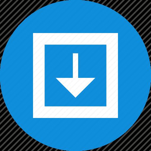 arrow, down, download, menu, nav, option, point icon