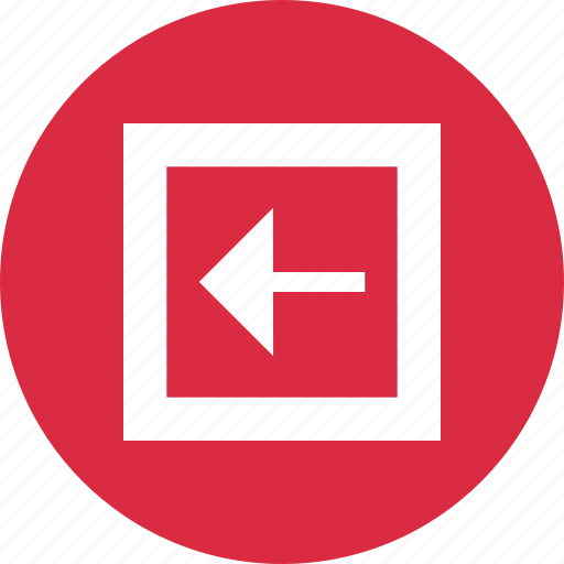 abstract, arrow, creative, design, exit, left, point icon