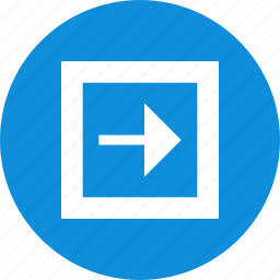 abstract, arrow, creative, design, next, point, right icon