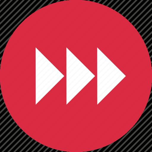 abstract, arrows, creative, design, next, right icon