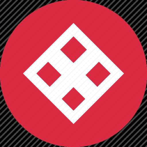 center, cube, design icon