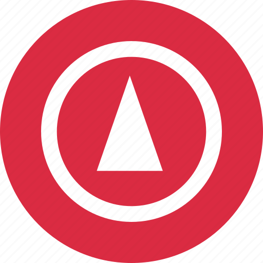 abstract, arrow, cone, creative, design, point, up icon