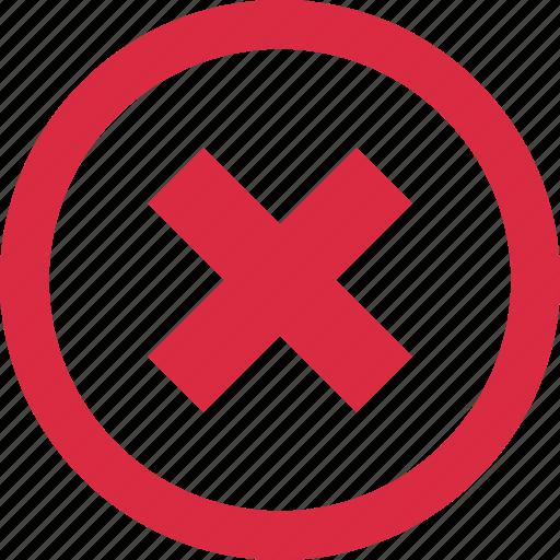 cross, delete, deneid, menu, navigation, stop, x icon