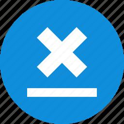abstract, creative, cross, design, line, x icon