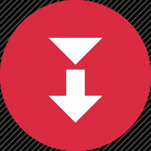 arrow, design, down, point icon