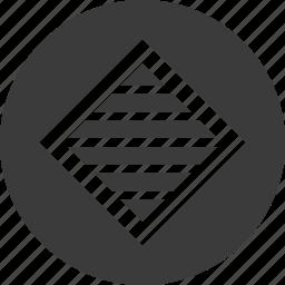 abstract, creative, cube, design, diagnol, lines icon