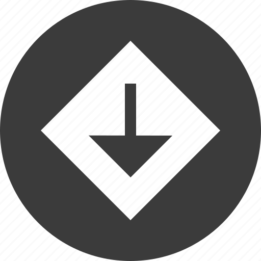 abstract, creative, design, down, point icon