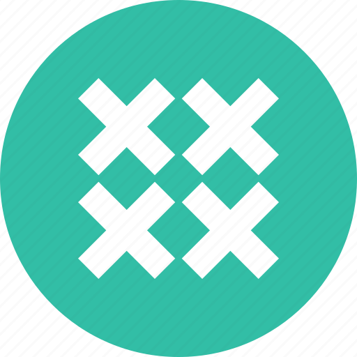 abstract, creative, crosses, delete, design, four icon