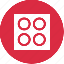 boxed, design, dots, four icon