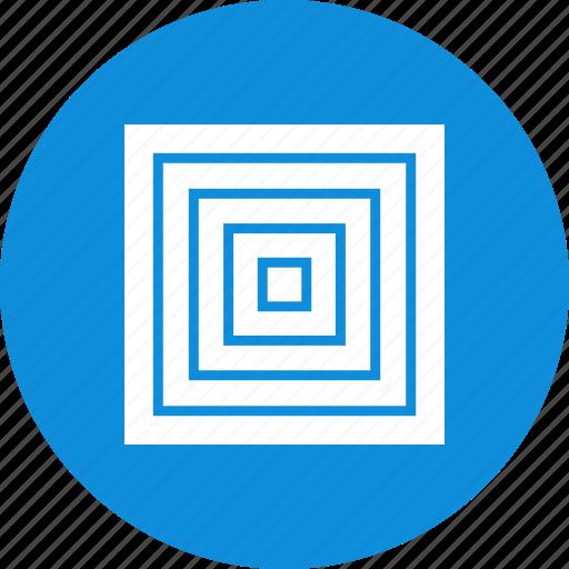 abstract, center, creative, design, eye, maze icon