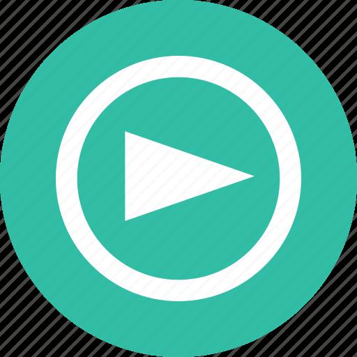 arrow, media, play, point, right, video icon