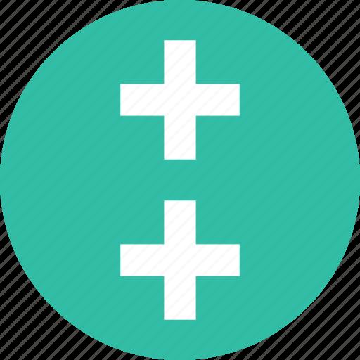 design, plus, two icon