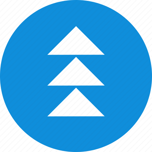 arrows, point, three, up, upload icon