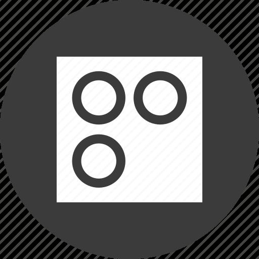 corner, dots, three icon