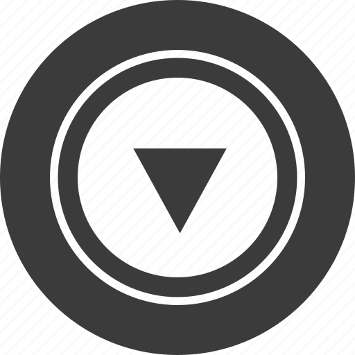 down, point, triangle icon