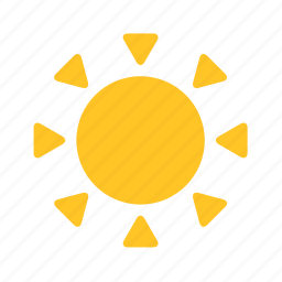 abstract, flower, shape, sun, sunset, weather, yellow icon