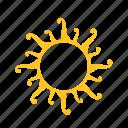 abstract, flower, shape, sun, sunset, weather, yellow