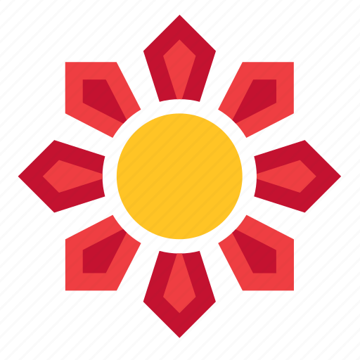 abstract, flower, nature, shape, sun, sunset, weather icon