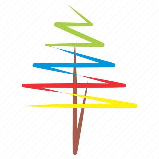 christmass, clipart, colorful, sign, tree icon