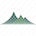 halftone, mountain, dotted, logo icon