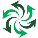 arrow, eco, ecology, green, recycle, spiral