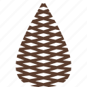 logo, pinecone, tree icon