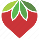 leaves, logo, strawberry icon
