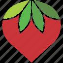 leaves, logo, strawberry
