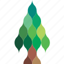 art, clip, design, fir, forest, geometry, tree icon