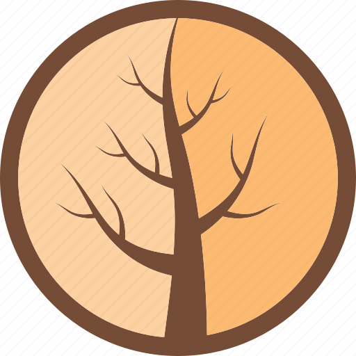 cracked, eco, logo, tree, wood icon