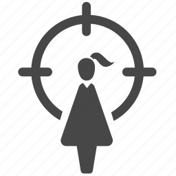 crime, female, girl, harassment, sexual harassment, target, victim icon